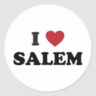 Amo Salem Oregon Etiquetas Redondas