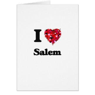 Amo Salem Oregon Tarjeta De Felicitación