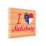 Amo Salisbury, Carolina del Norte Impresiones En Lona Estiradas