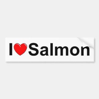 Amo salmones (del corazón) pegatina para auto