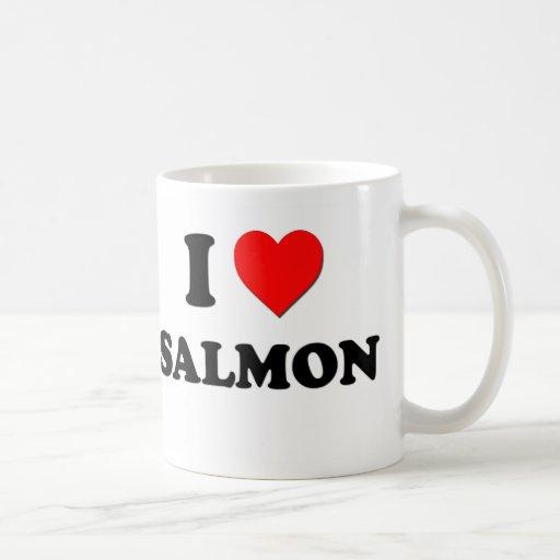 Amo salmones taza de café