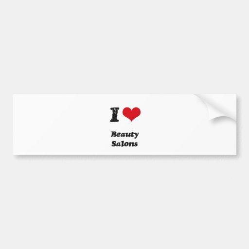 Amo SALONES de BELLEZA Etiqueta De Parachoque