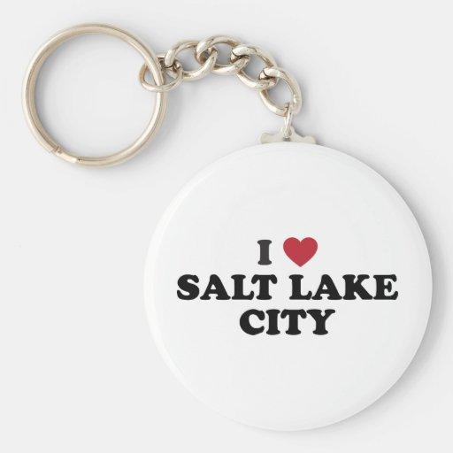 Amo Salt Lake City Utah Llaveros Personalizados