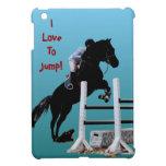 Amo saltar caso del iPad del caballo el mini