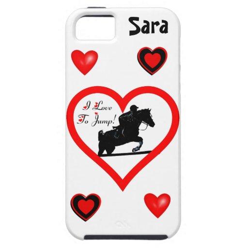 ¡Amo saltar! Corazón con el caso del iPhone 5 del  iPhone 5 Case-Mate Coberturas
