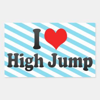 Amo salto de altura pegatina rectangular