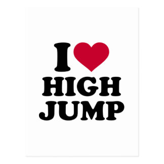 Amo salto de altura postal