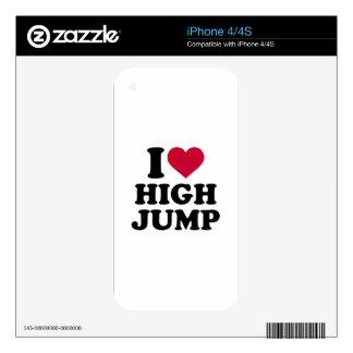 Amo salto de altura skins para iPhone 4