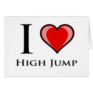 Amo salto de altura tarjeta de felicitación