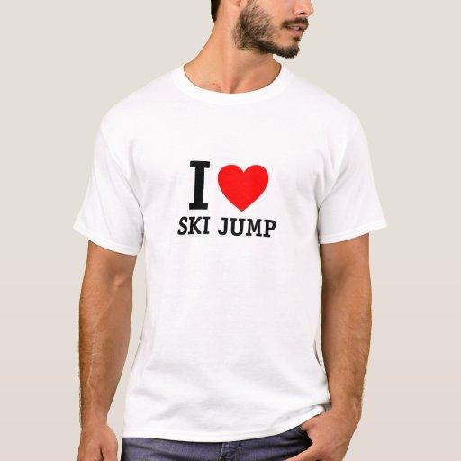 Amo salto de esquí playera