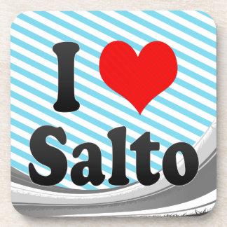 Amo Salto, el Brasil. Eu Amo O Salto, el Brasil Posavasos De Bebida