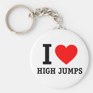 Amo saltos de altura llavero redondo tipo pin