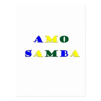 Amo Samba Postcard