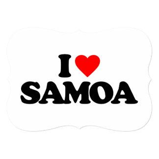 """AMO SAMOA INVITACIÓN 5"""" X 7"""""""