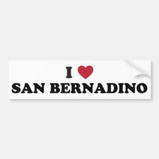 Amo San Bernardino California Etiqueta De Parachoque