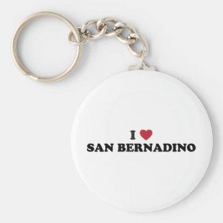 Amo San Bernardino California Llavero Redondo Tipo Pin