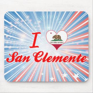 Amo San Clemente, California Tapetes De Ratones