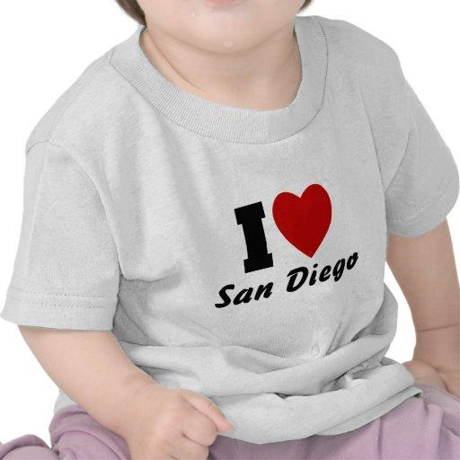 Amo San Diego Camisetas