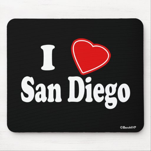 Amo San Diego Alfombrillas De Ratones