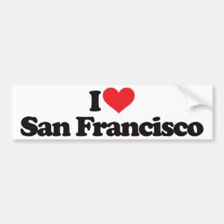 Amo San Francisco Pegatina De Parachoque