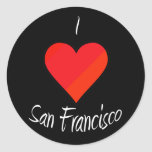 Amo San Francisco Etiquetas Redondas