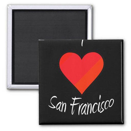 Amo San Francisco Imán Cuadrado
