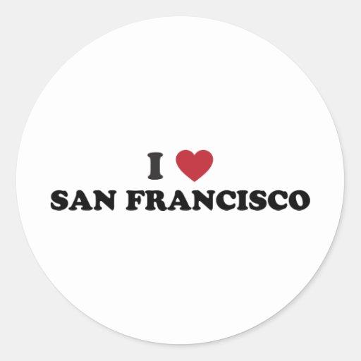 Amo San Francisco Pegatina Redonda