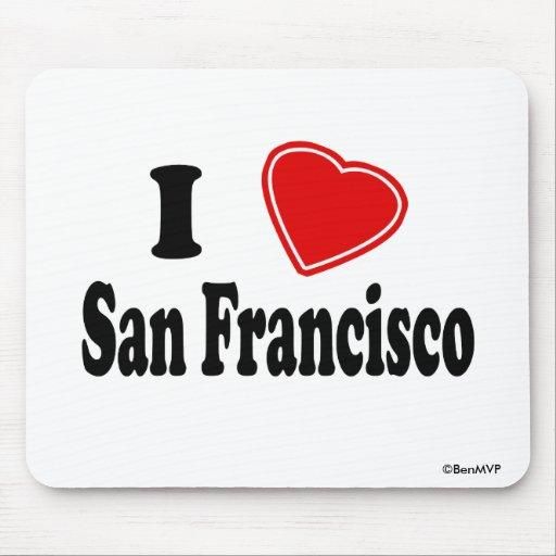 Amo San Francisco Alfombrillas De Ratón