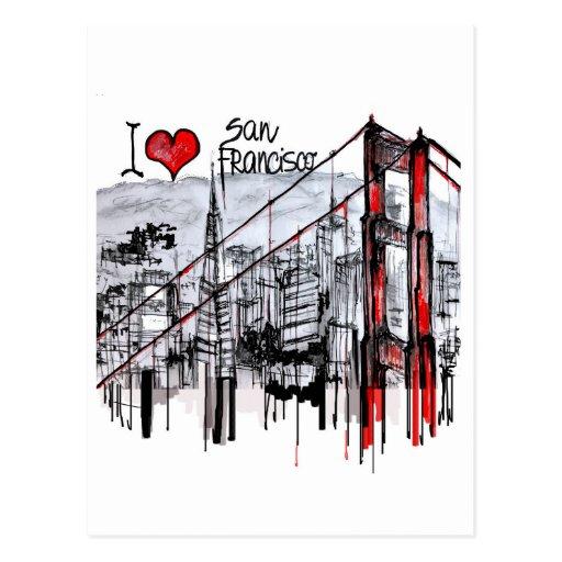 Amo San Francisco Postales