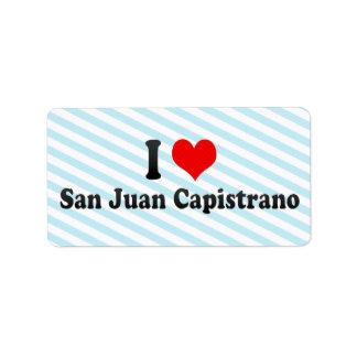 Amo San Juan Capistrano, Estados Unidos Etiquetas De Dirección