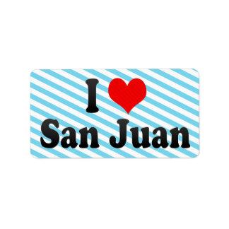 Amo San Juan, la Argentina Etiquetas De Dirección