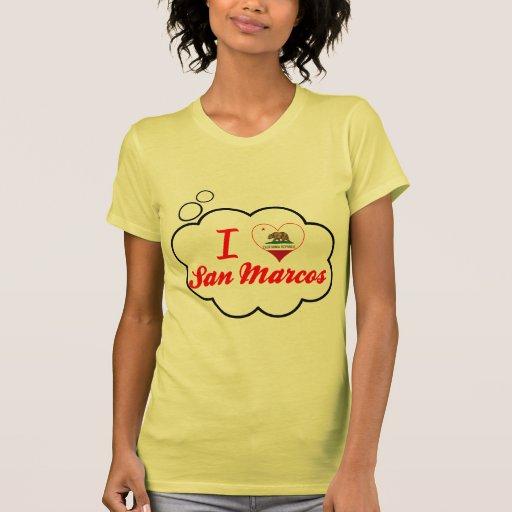 Amo San Marcos, California Camisetas