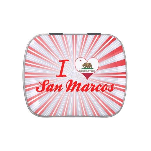 Amo San Marcos, California Jarrones De Caramelos