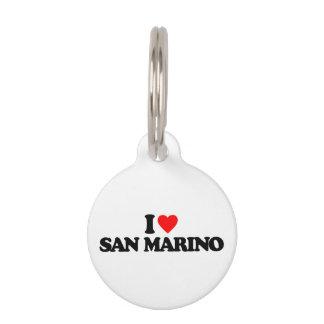 AMO SAN MARINO PLACAS DE MASCOTA