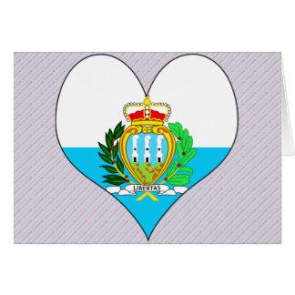 Amo San Marino Tarjeta De Felicitación