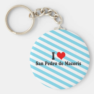 Amo San Pedro de Macoris República Dominicana Llavero Personalizado