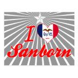 Amo Sanborn, Iowa Tarjeta Postal