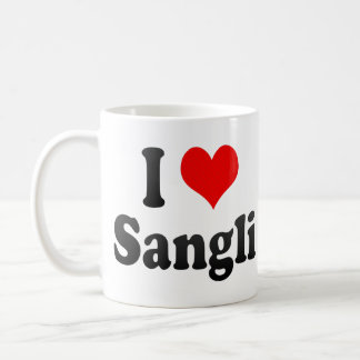 Amo Sangli, la India. Mera Pyar Sangli, la India Taza Básica Blanca