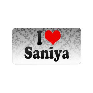 Amo Saniya Etiquetas De Dirección