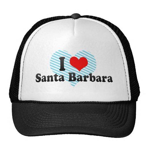 Amo Santa Barbara, Estados Unidos Gorro De Camionero