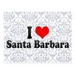 Amo Santa Barbara, Estados Unidos Tarjeta Postal