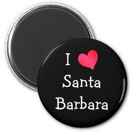Amo Santa Barbara Imán Redondo 5 Cm