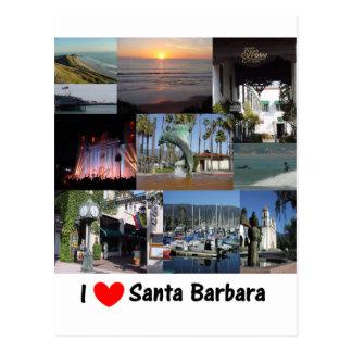 Amo Santa Barbara Postales