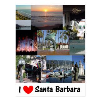 Amo Santa Barbara Tarjeta Postal