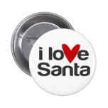 amo Santa con el corazón Pins