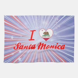 Amo Santa Mónica California Toallas De Cocina