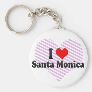 Amo Santa Mónica Estados Unidos Llavero Personalizado