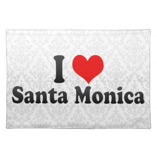Amo Santa Mónica Estados Unidos Mantel Individual
