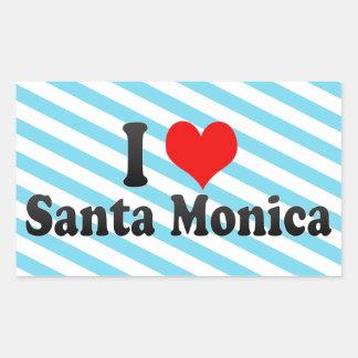 Amo Santa Mónica Estados Unidos Rectangular Pegatina