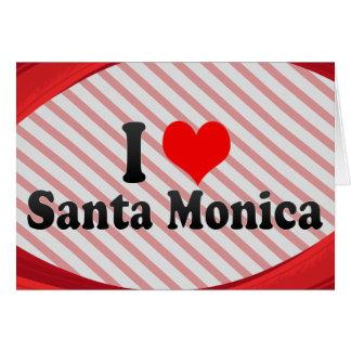 Amo Santa Mónica Estados Unidos Tarjetón